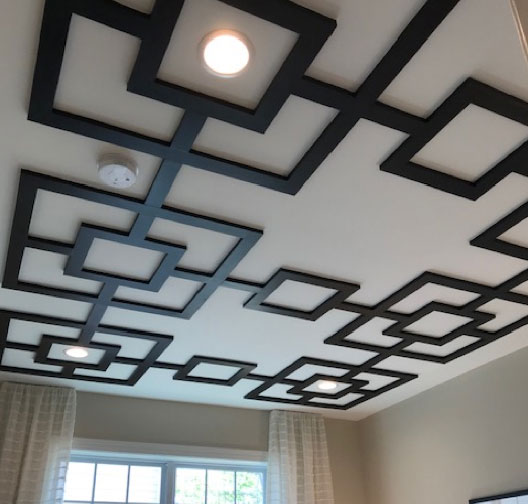 Bold statement ceiling interior design