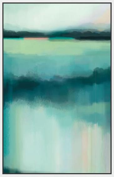 West Elm: Blue Lagoon Art Print