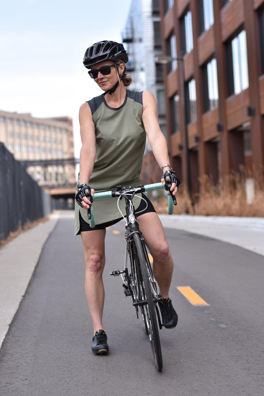 Columnist Nicole Eikenberry getting joyful on the Cedar Lake Trail near downtown Minneapolis
