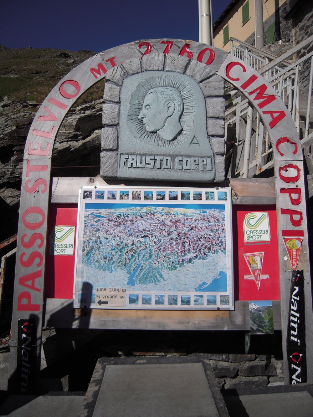 A shrine to the wise Fausto Coppi, atop Passo del Stelvio in northern Italy.Photo: Nicole Eikenberry