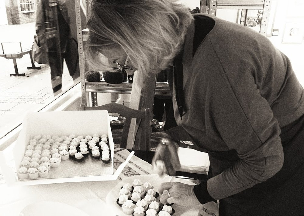Artist Sarah Russell, queen of the petit-fours...