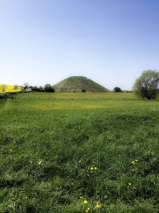 Silbury Hill - despite archaeological investigations, no one has yet established a reason for it's creation. It's one of many mysteries in the landscape.