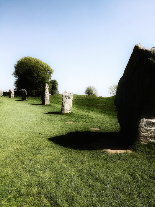 Avebury stone circle - of course without a drone or helicopter it's difficult to give any impression of the scale of Avebury. In fact there are three circles in all contained within a massive henge.