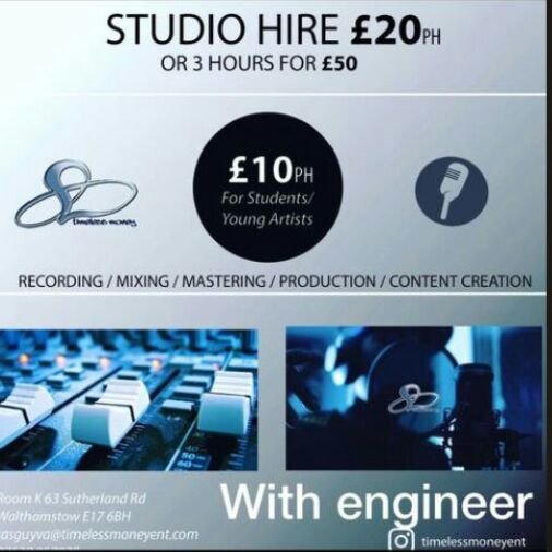 contact management no for studio facilities and services  -