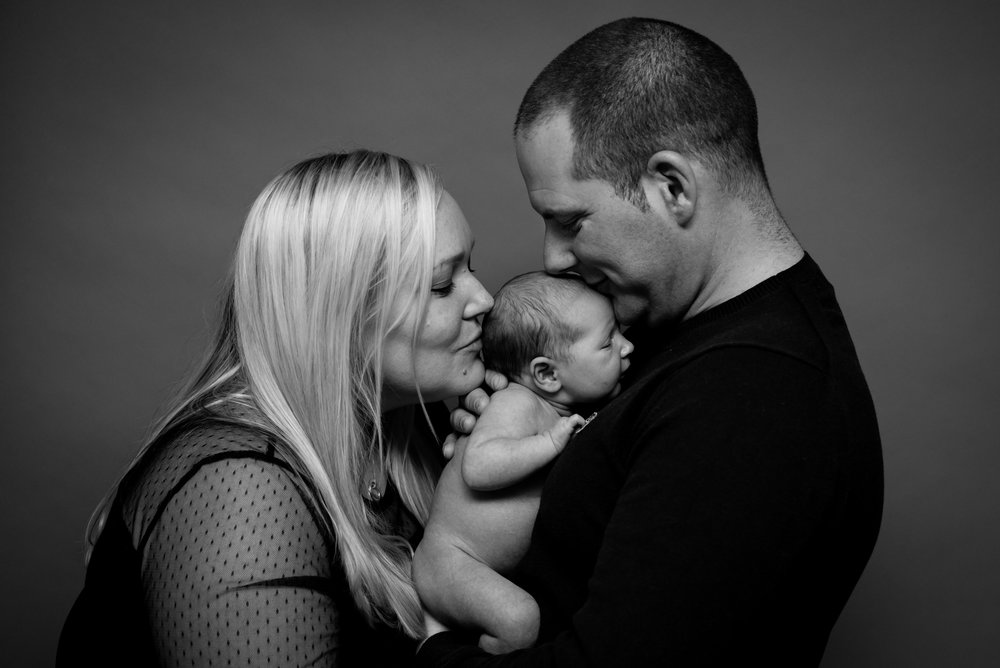 Mummy, Daddy and me _ Ribble Valley newborn photographer