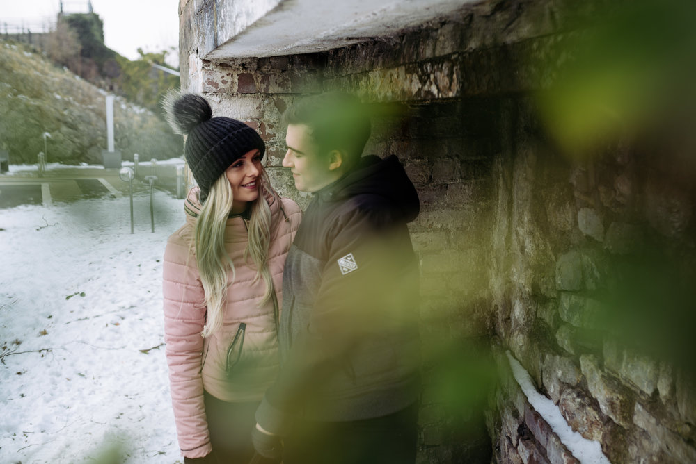Clitheroe Castle, Lancashire engagement shoot