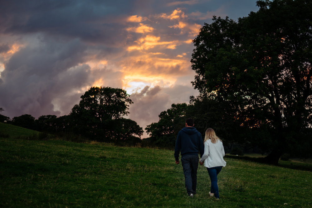 Sunset engagement shoot in Ulverston, Cumbria
