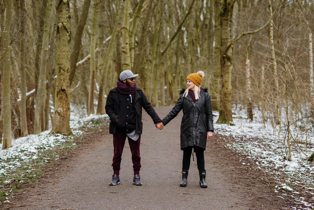 Engagement shoot. Fletcher Moss, Didsbury