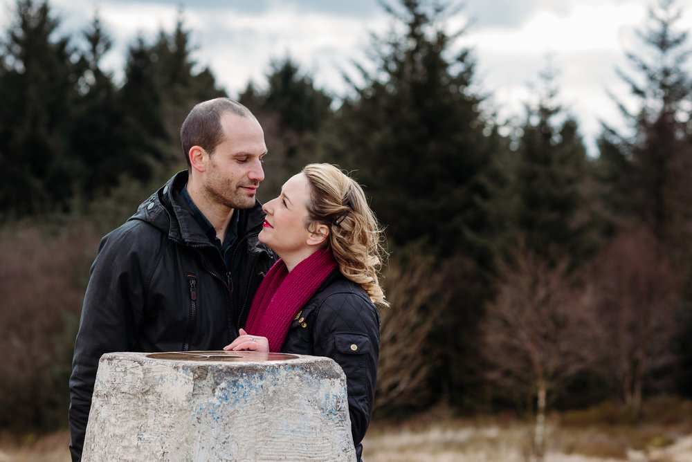 Engagement shoot at beacon fell