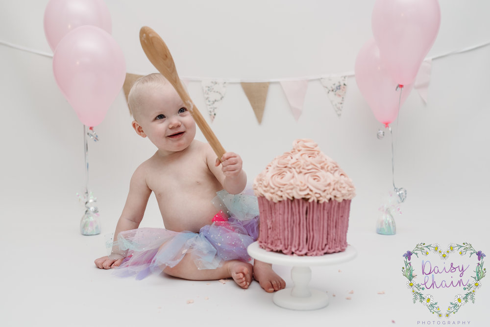Giant pink cupcake