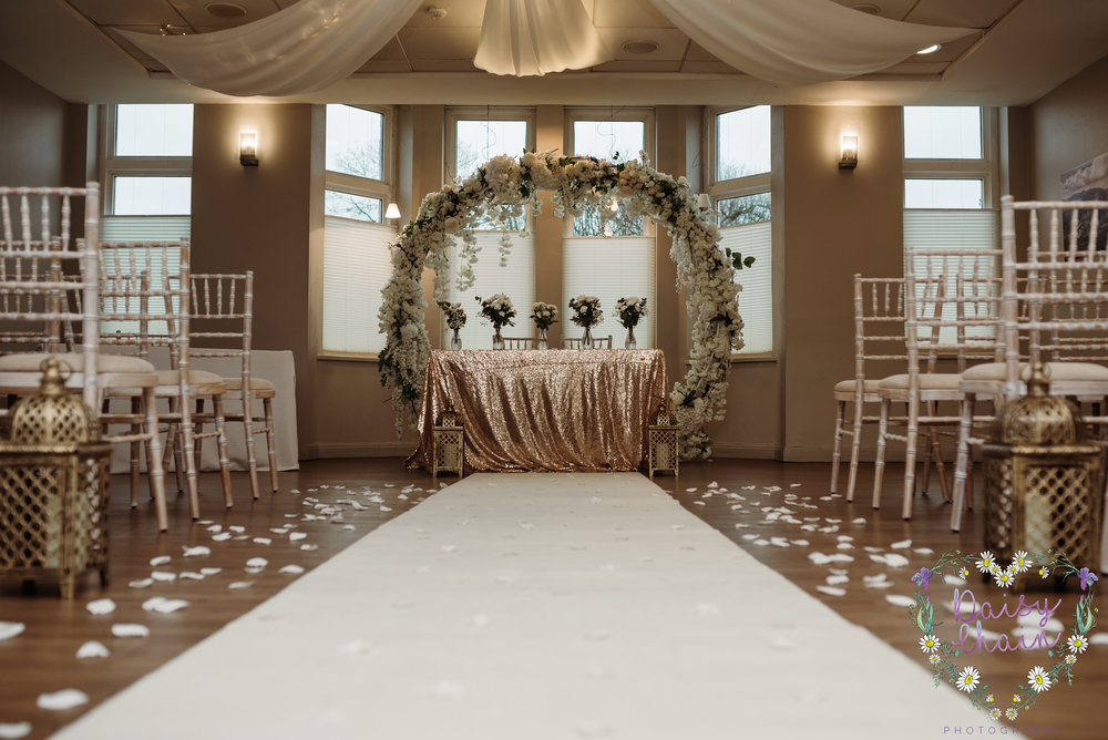 Wedding aisle - cheadle house