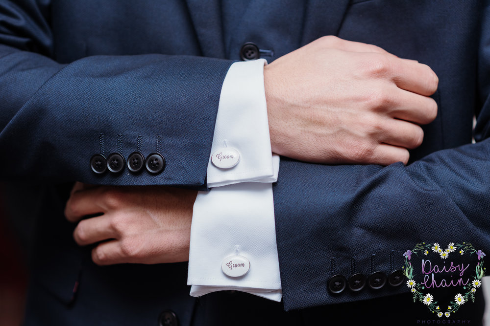 Grooms cuff links - Cheshire wedding