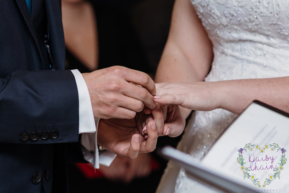 Giving of wedding rings - cheshire
