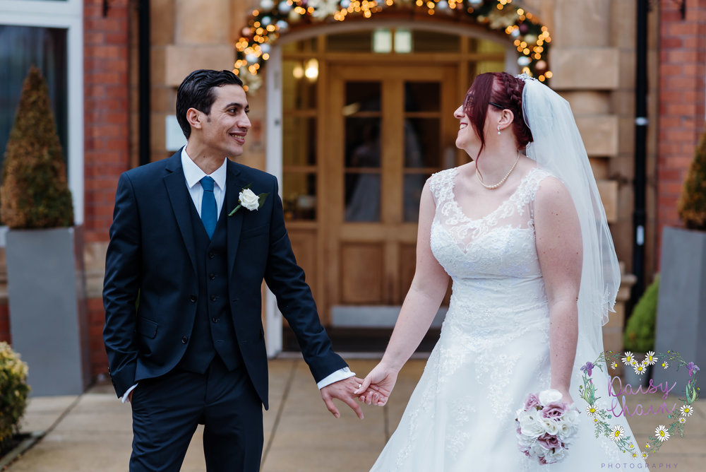 Husband and wife - cheadle house wedding