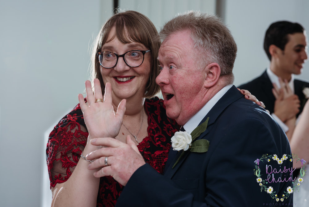 mother and father of the bride - cheshire wedding