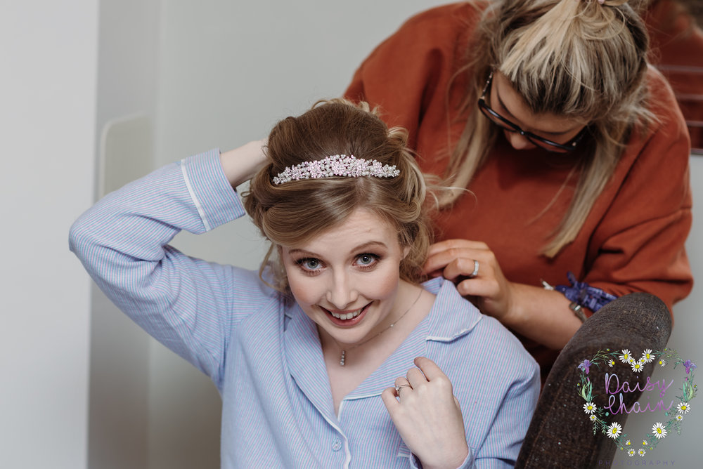 bridal preparation - clitheroe wedding photographer
