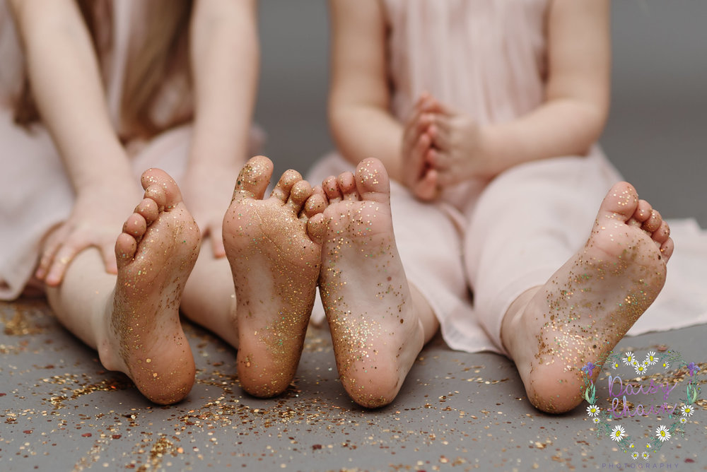 Glitter feet - lancashire