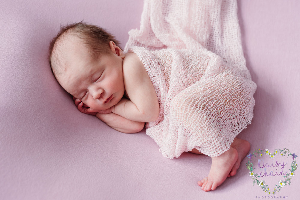 Lancashire newborn girl