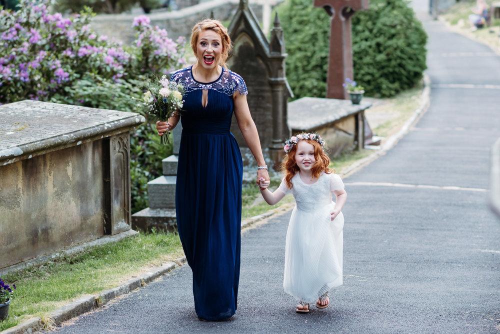 Bridesmaid and flower girl - lancashire