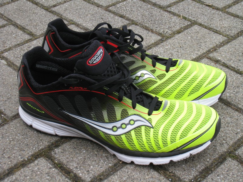 Saucony Kinvara 3 - good low drop shoe and fast.
