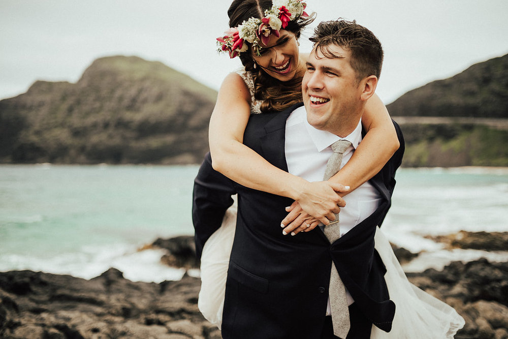 Makapu'u Beach | Bride & Groom Wedding Portraits