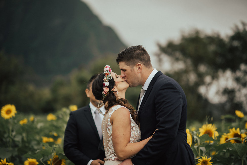 Waimanalo Country Farms | Bride & Groom Wedding Portraits