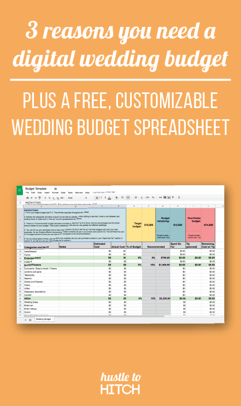 3 reasons why you need a digital wedding budget plus a FREE budget template!
