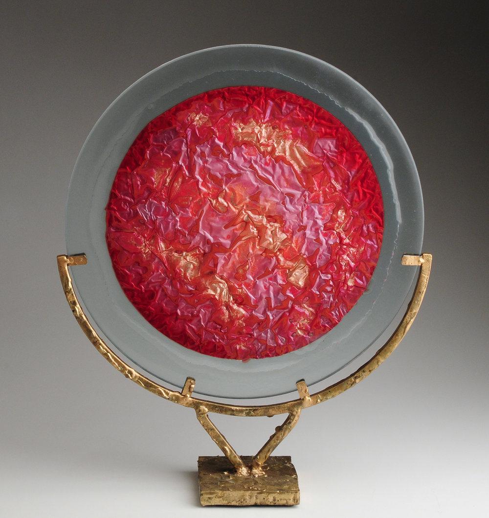 Sculpture, Table Sculpture, Contemporary Sculpture, Copper, Glass Art, Art