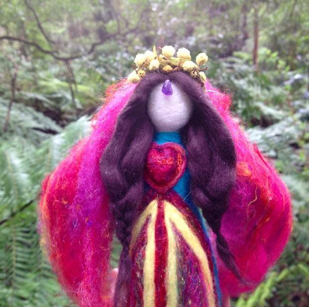 Spring Equinox Blessings medicine doll by Sacred Familiar