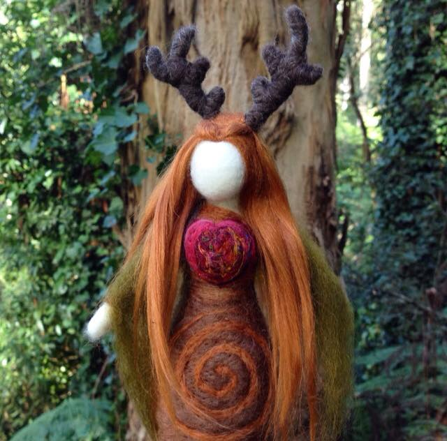 Autumn Equinox doll by Sacred Familiar