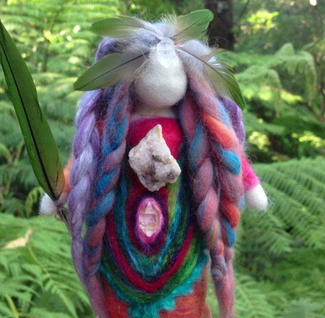 Rainbow Lorikeet doll by Sacred Familiar