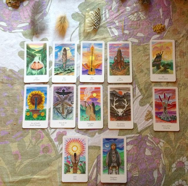 Vision Quest Tarot card reading with Sacred Familiar