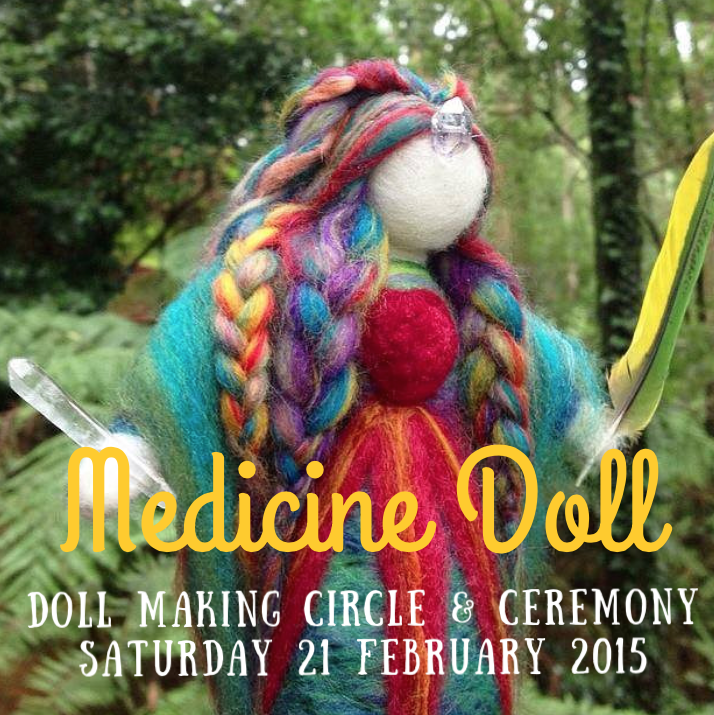 medicine doll workshop with Sacred Familiar