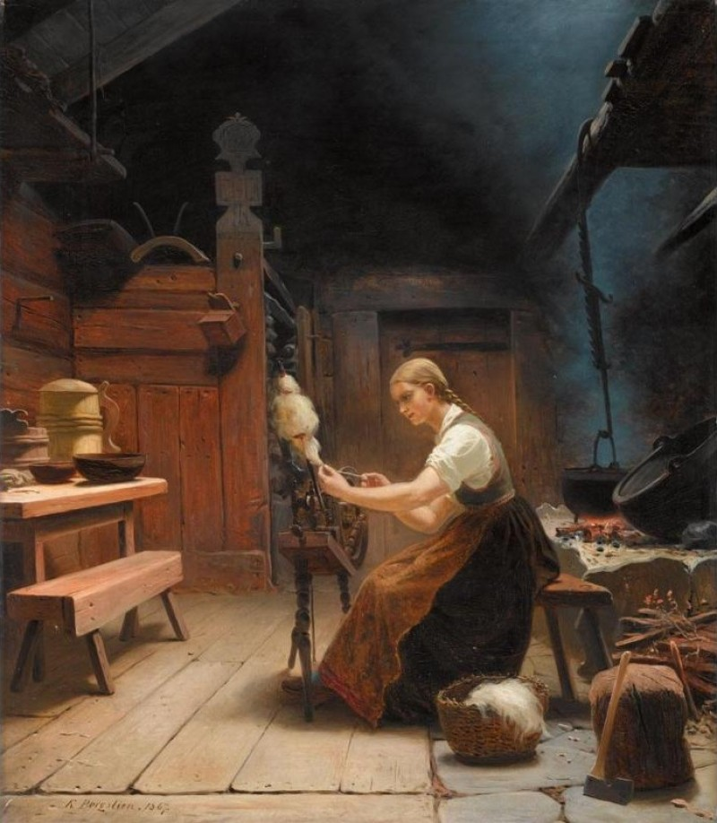 woman-spinning-wool-by-knud-bergslien-e1340105328632.jpg
