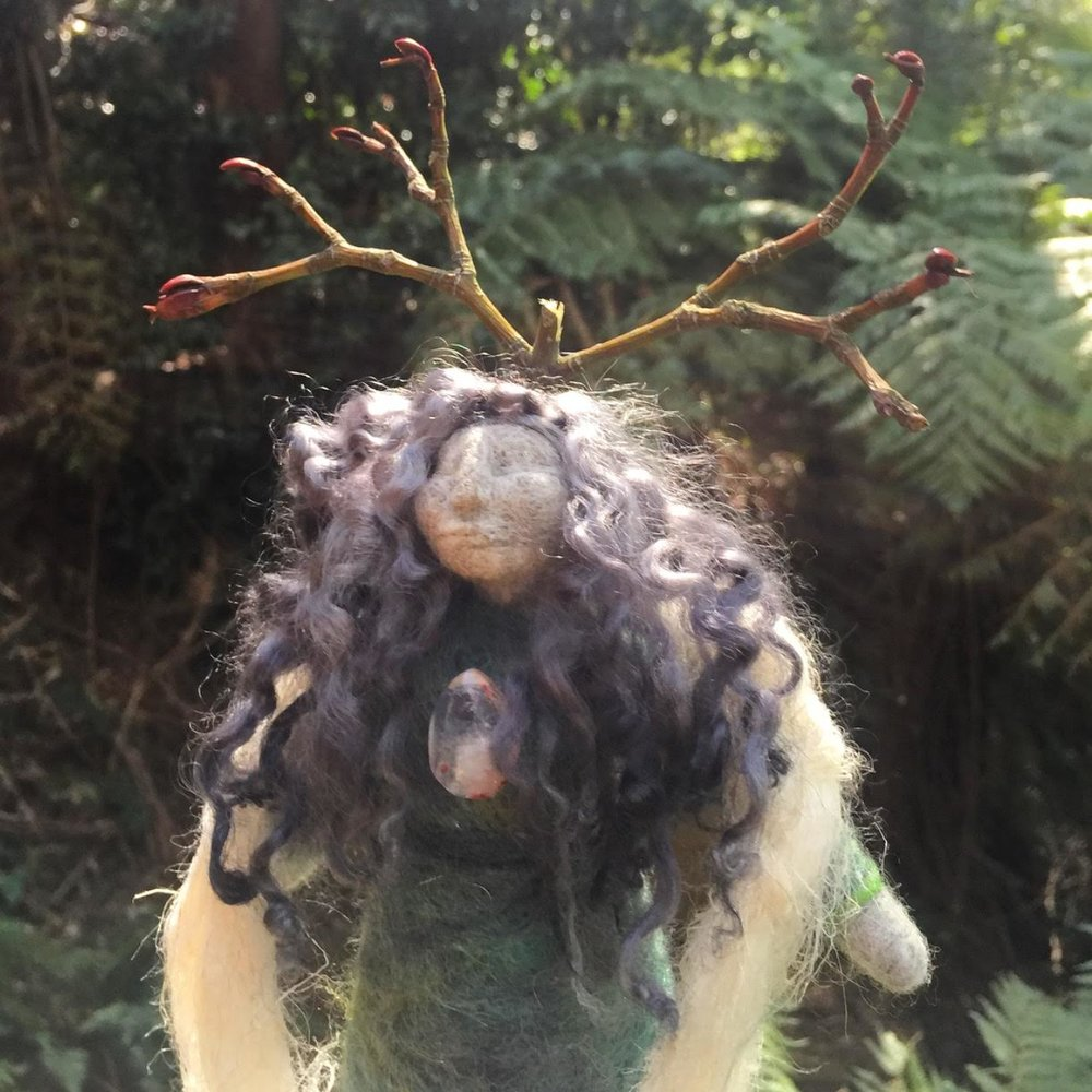 Nettle Mother and Child - Wrapped in fibre woven from the Nettle plant this earth worshipping Mother and Child are large and strong dolls.