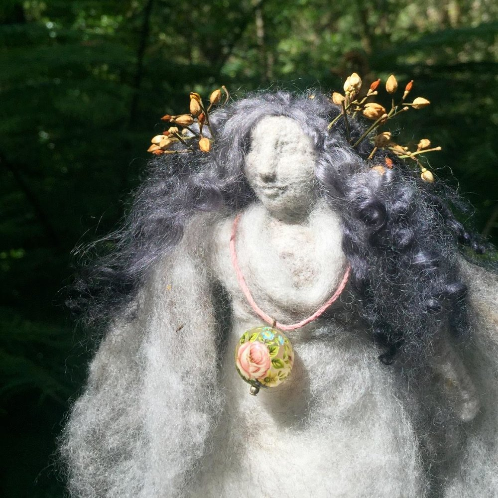 Swan Faerie Godmother Doll - Isobel