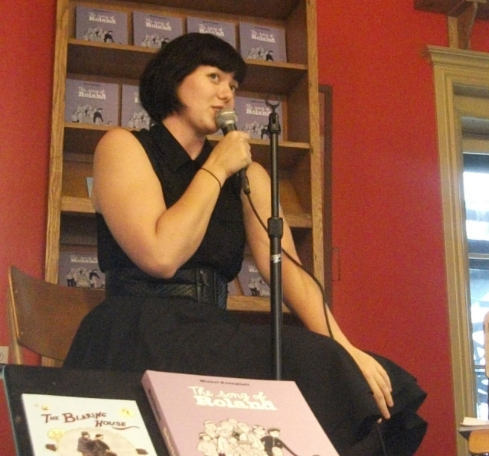 Book launch discussion for  The Blaring House  at Drawn & Quarterly Montreal, 2012.