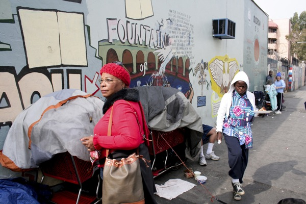 A Day with Rita on Skid Row