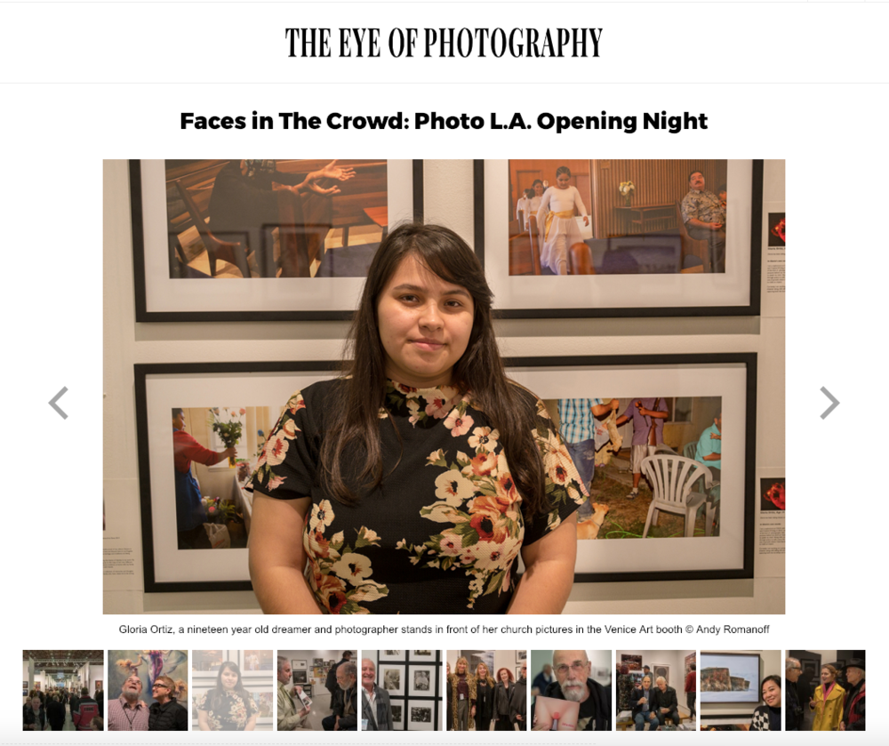 Venice Arts student Gloria Ortiz featured on  The Eye of Photography