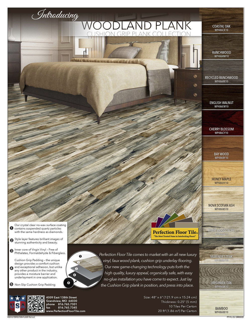 Woodland Plank Perfection Floor Tile