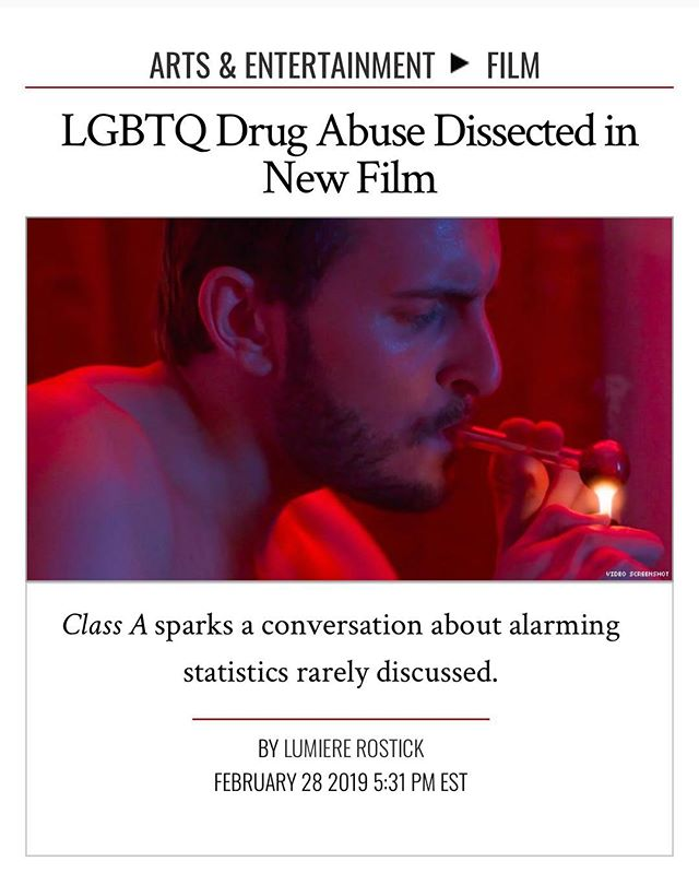 Thanks @theadvocatemag for this piece on my new film. Happy announce that #TLAvideo will be releasing @classafilm VOD March 19th #lgbtqfilm #director #addiction  LGBTQ Drug Abuse Dissected in New Film By @LumiereRostick  https://www.advocate.com/film/2019/2/28/lgbtq-drug-abuse-dissected-new-film ❤️