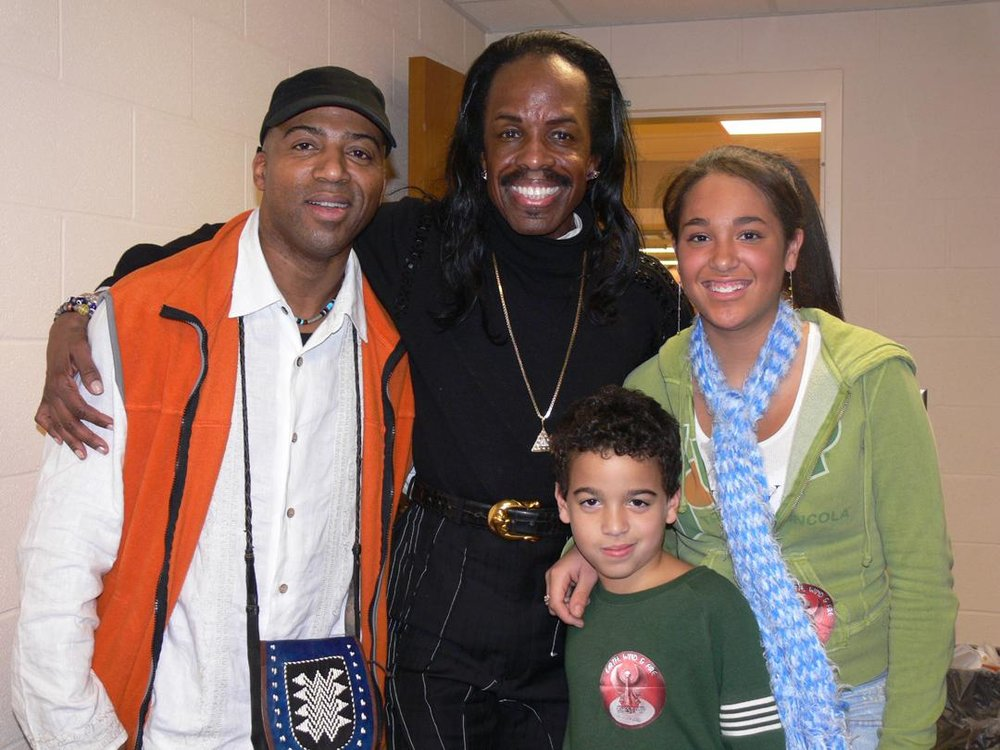 Keith Robinson, Verdine White, Denzel and Janaye Robinson