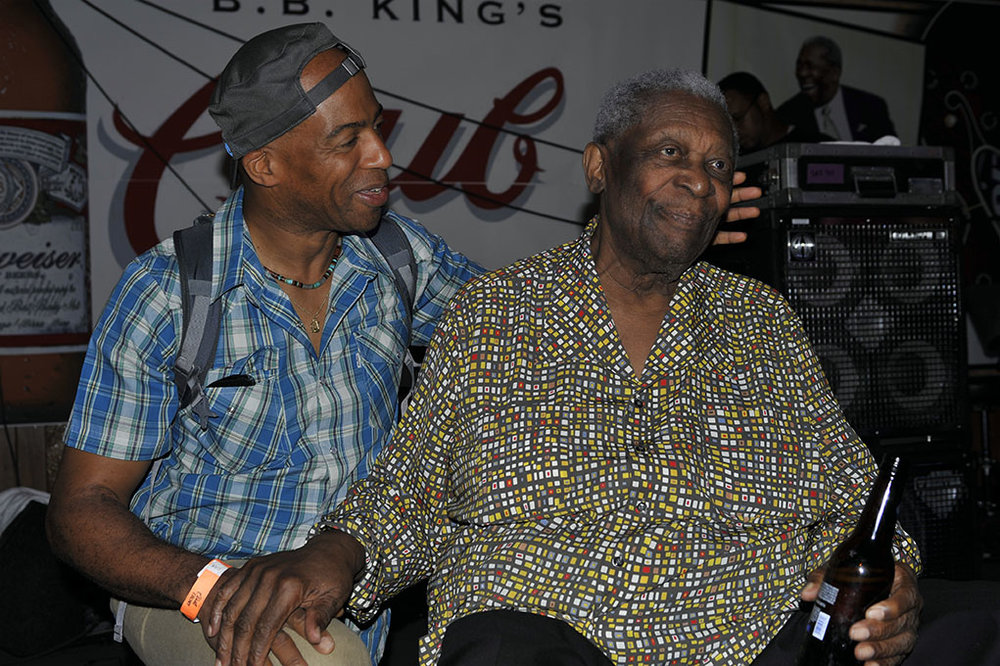 Keith Robinson and BB King, Club Ebony Indianola, MS