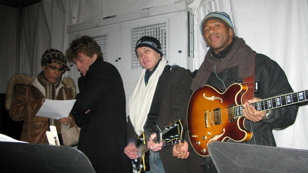 John Bon Jovi, Shane Fontayne and Keith Robinson