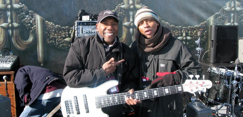 "Nathan East and Keith Robinson at Obama Inauguration, DC, ""We are One"""