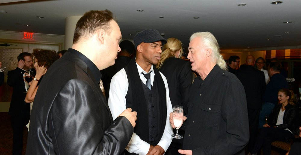 Rob Mathes, Keith Robinson and Jimmy Page