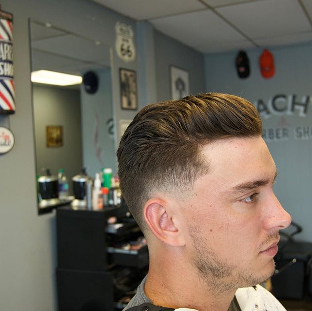 🤙🏻💈⚡️- styled with some uppercut easy hold for a nice loose look- ⚡️💈🤙🏻. #yeahthatgreenville #taylors #zachs #barbershopconnect #barberevo #barbershop