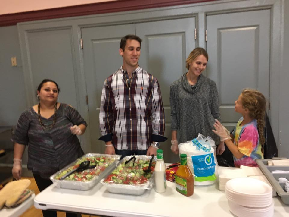 Troy Web Serving Dinner at YWCA