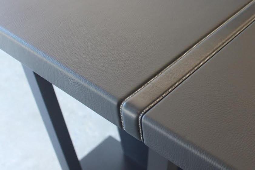 Belt Overlay in 12' long Nigrine Leather Countertop