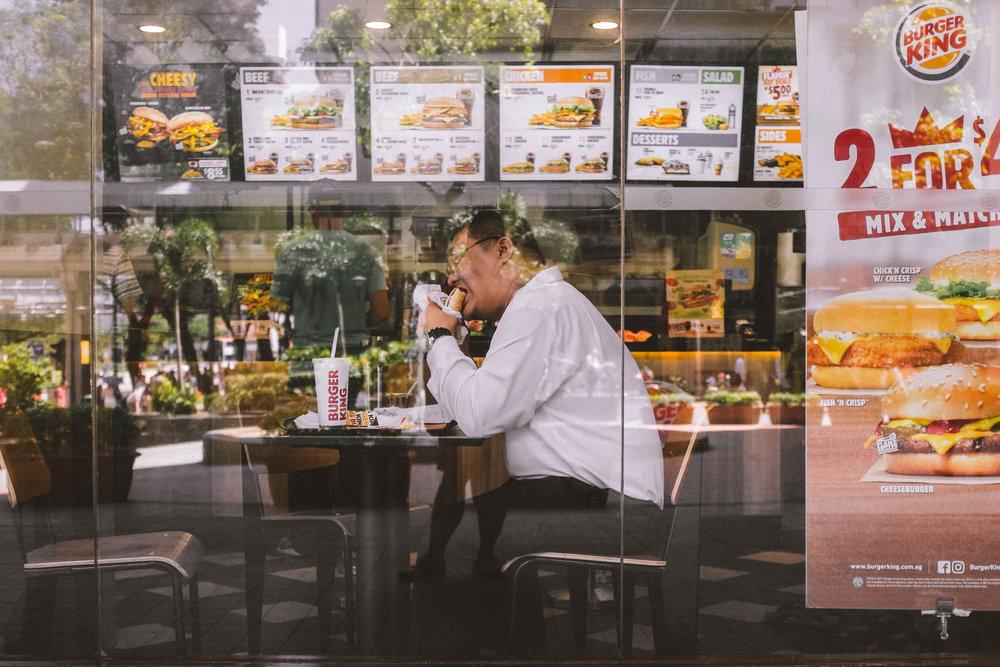 Burger King, Singapore. 2017